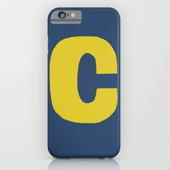 Yellow C iPhone & iPod Case