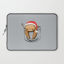 Sloth in a Pocket Xmas Laptop Sleeve