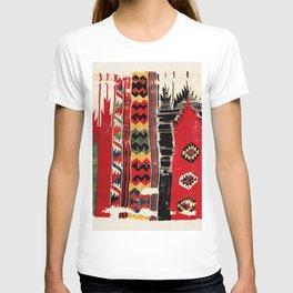 Aksaray  Antique Turkish Cappadocian Kilim Rug Fragment Print T-shirt