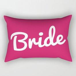 Bride Wedding Quote Rectangular Pillow