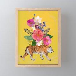 Tiger Bloom Framed Mini Art Print