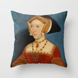 """Hans Holbein the Younger """"Jane Seymour, Queen of England"""" Throw Pillow"""