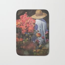Picking the Flowers Bath Mat