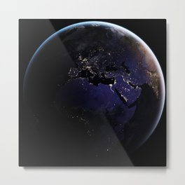 The Earth at Night 1 Metal Print
