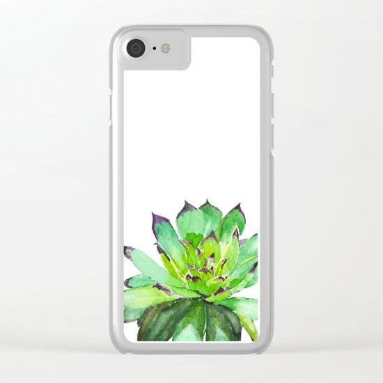 green succulent 2 Clear iPhone Case