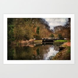 Above Sulhamstead Lock On The K&A Art Print