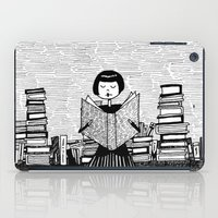bookworm iPad Cases featuring Bookworm by kate gabrielle