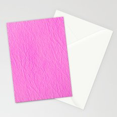 Leather Texture (Pink) Stationery Cards