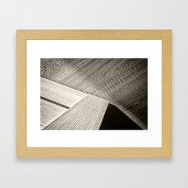 Shadow Light Door Abstract Two Framed Art Print