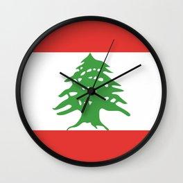 Lebanon flag emblem Wall Clock