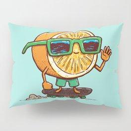 The Orange Skater Pillow Sham