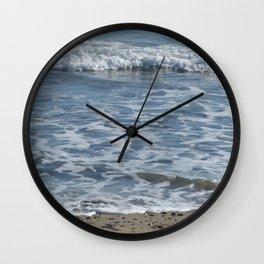Winter Maine Sea Wall Clock