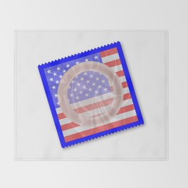 Stars And Stripes Condom Throw Blanket