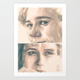 Isak and Even Art Print
