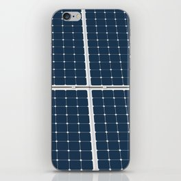 Image Of A Solar Power Panel. Free Clean Energy For Everyone iPhone Skin