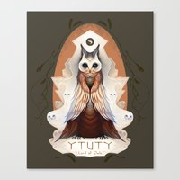 lord of the ring Canvas Prints featuring Ytuty Lord of Owls by Mark Facey
