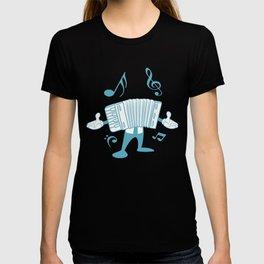 Accordion Man Melodeon Piano Accordion Notes Gift T-shirt