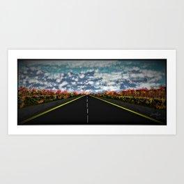 Express way Fall View Art Print