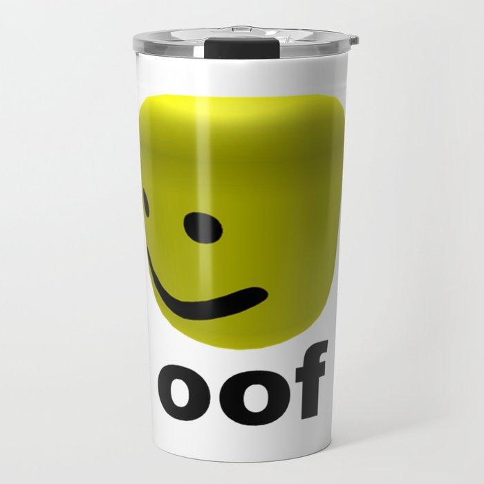 Roblox Oof Roblox Travel Mug By Avemathrone - roblox tumbler