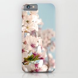 Spring, Flower Photography, Pastel, Pink, Romantic Cherry Blossom, Art Deco - 8 x 10 Wall Decor iPhone Case