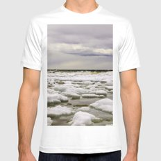 Ice water White MEDIUM Mens Fitted Tee