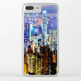 Hong Kong City Skyline Clear iPhone Case