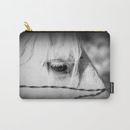 Horse's Eye: Black and White Photo Carry-All Pouch