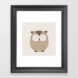 Owl Cute Woodland Animals Framed Art Print