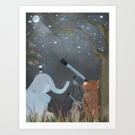 little astrologers Art Print
