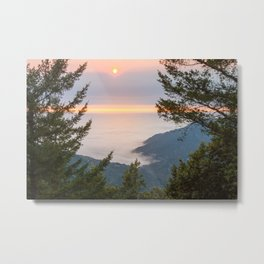 Sunset at the King Range Metal Print