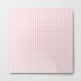 light pink squares Metal Print