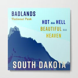 South Dakota Travel Metal Print