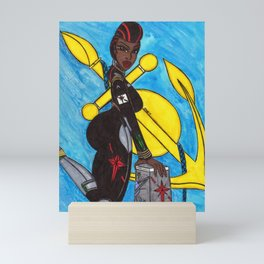 The Queen of the Starships Mini Art Print