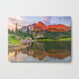 Rocky Mountain Glow Metal Print