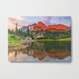 Rocky Mountain Glow Metal Print