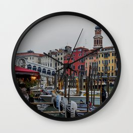Rialto, Venezia (Colors 2) Wall Clock