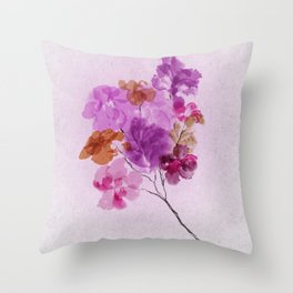 A Floral Sprig Throw Pillow