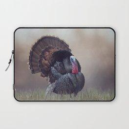 WIld Tom Turkey in the grassland Laptop Sleeve