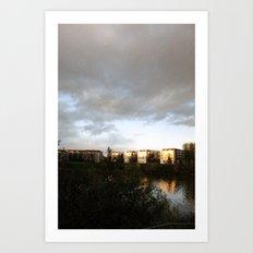 Warming Rays of Light Art Print