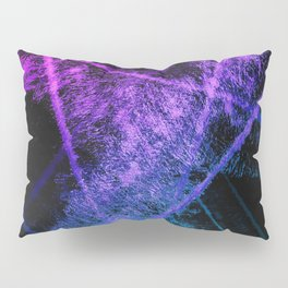 Colorful Abstract Brushstrokes on Black Background Pillow Sham