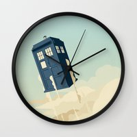 fly Wall Clocks featuring Time to Fly by Danny Haas