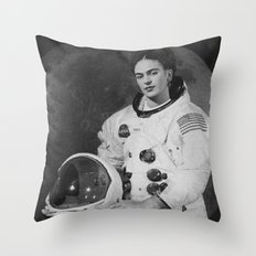 Frida in Space Throw Pillow