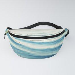 Ocean Waves Blue Photography, Aqua Water Sea Seascape Photo, Teal Beach Coastal Abstract Waves Fanny Pack