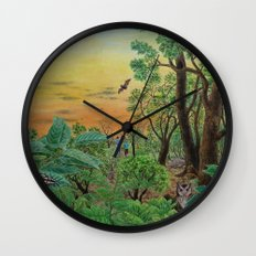 A Day of Forest (9). (the forest at night) Wall Clock