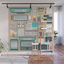 Graphic Designer's Workspace Wall Mural