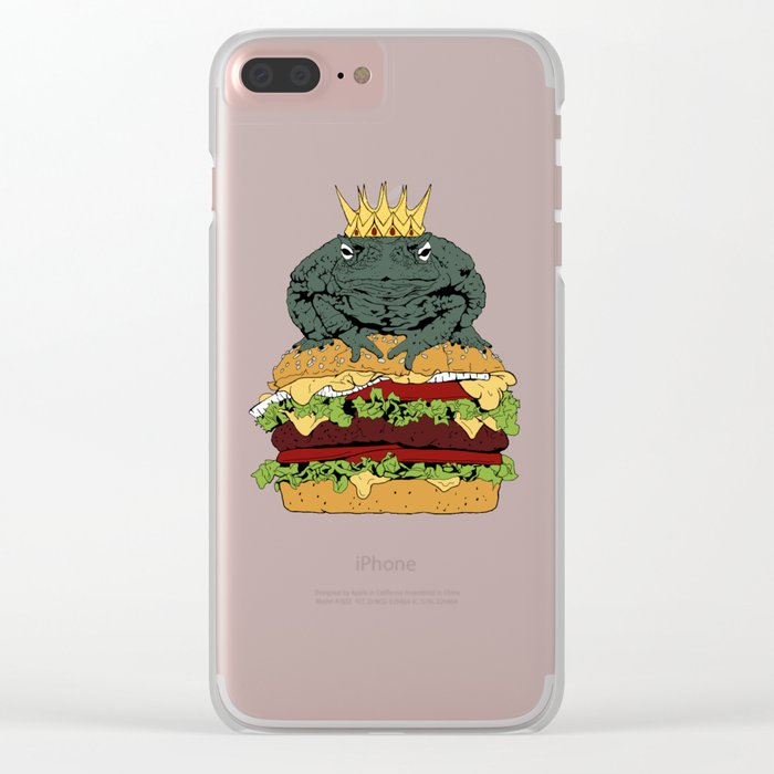 King of Burgers Green Clear iPhone Case