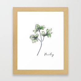 Parsley Framed Art Print