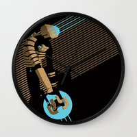 engineer Wall Clocks featuring The Engineer by Florey