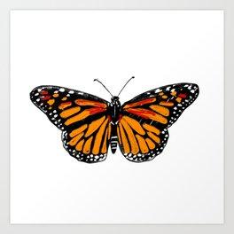 Lady Monarch Art Print