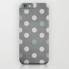 Concrete & PolkaDots Slim Case iPhone 6